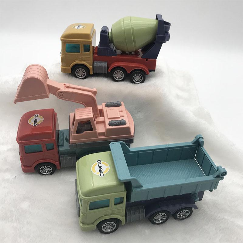 迪拉宝万向声光工程车挖掘机反斗车搅拌车仿真车模型男孩儿童玩具