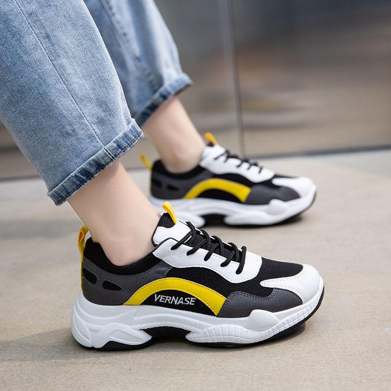 鞋子女学生韩版ins运动鞋春季最新款女百搭2020ins老爹鞋休闲跑步