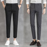 Spring nine points suit pants men's self-cultivation feet feet youth Korean version of the trend students no-iron trousers men's casual