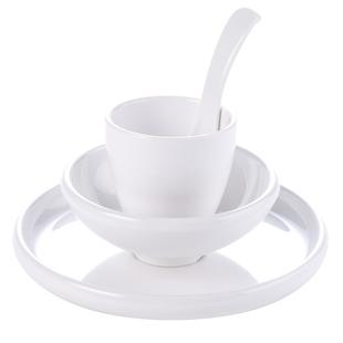 家庭米飯碗白色小碗飯店餐具耐摔加厚