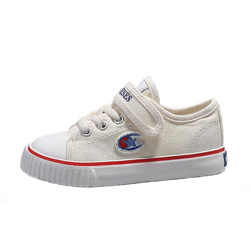 儿童帆布鞋2021春季新款童鞋男童板鞋女童布鞋宝宝小白鞋冠军联名