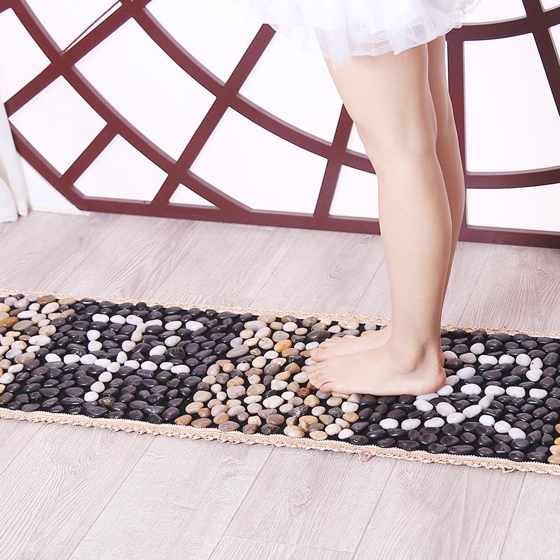 鹅卵石地垫足底按摩垫浴室雨花石脚垫坐垫石头子路指压板家用穴位