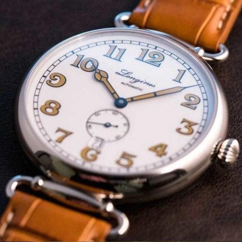 瑞士浪琴手表男士正品经典复刻系列时尚经典复古传统罗马刻度腕表