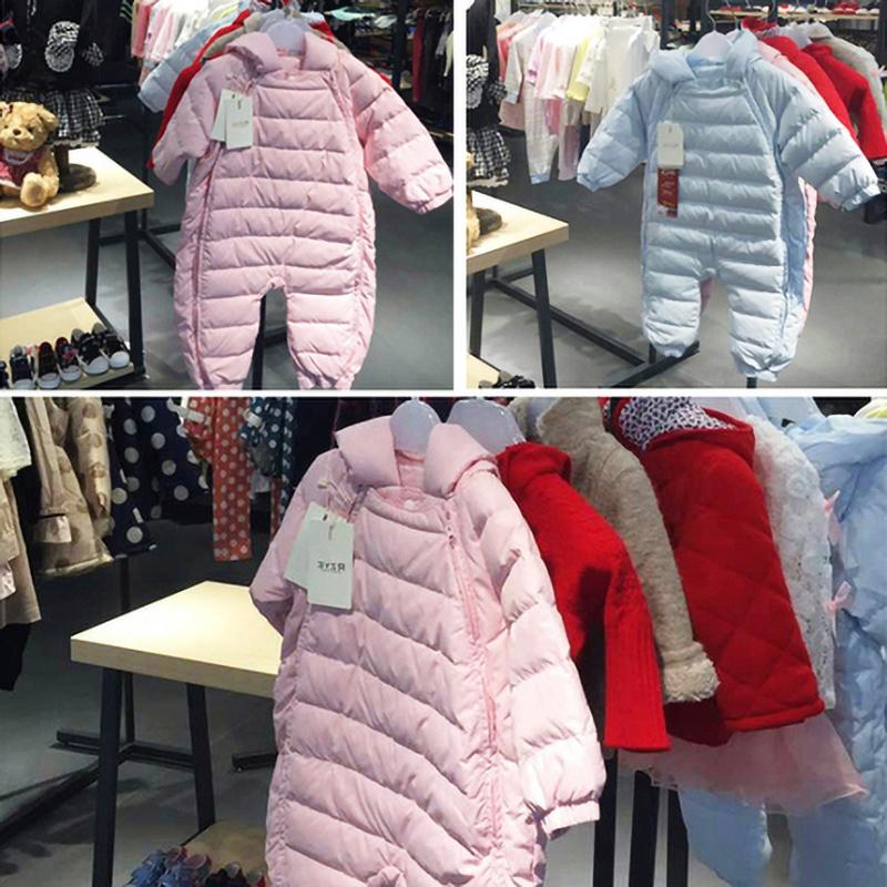 rzye连体婴幼儿连体衣服男女羽绒服