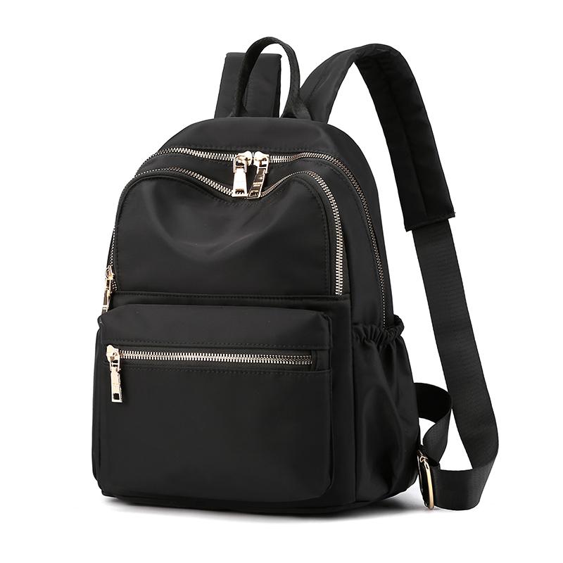 双肩包女2020新款牛津布小背包女士百搭时尚大容量帆布书包旅行包