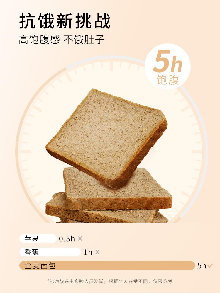 全麦面包黑麦 无糖精粗粮早餐减0低脱脂肪热量吐司片代餐饱腹食品 No.1