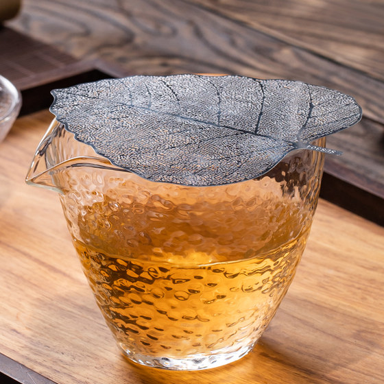 Glass Fair Cup Tea Leak Integrated Tea Stand Thickened Pouring Tea Distributor Heat Resistant Cup Japanese Hammer Tea Set