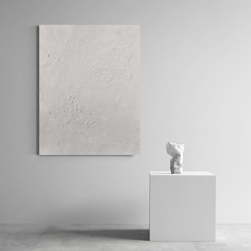 頤畫原創手繪 | 純手工大幅高端純色肌理畫油畫客廳抽象藝術掛畫