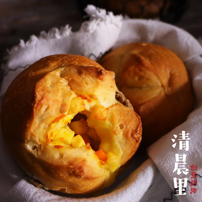 清晨里 无蔗糖无油奶酪核桃软欧面包早餐主食面包低g卡代餐有嚼劲