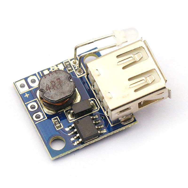 小电源板 DC-DC可调升压稳压电源模块板 带电量指示3A 移动