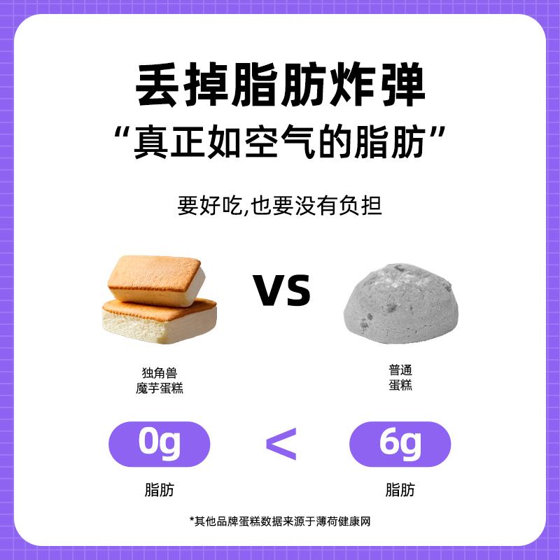 【0脂肪】魔芋蛋糕无糖精低代餐饱腹卡热量减早小面包健康零食品