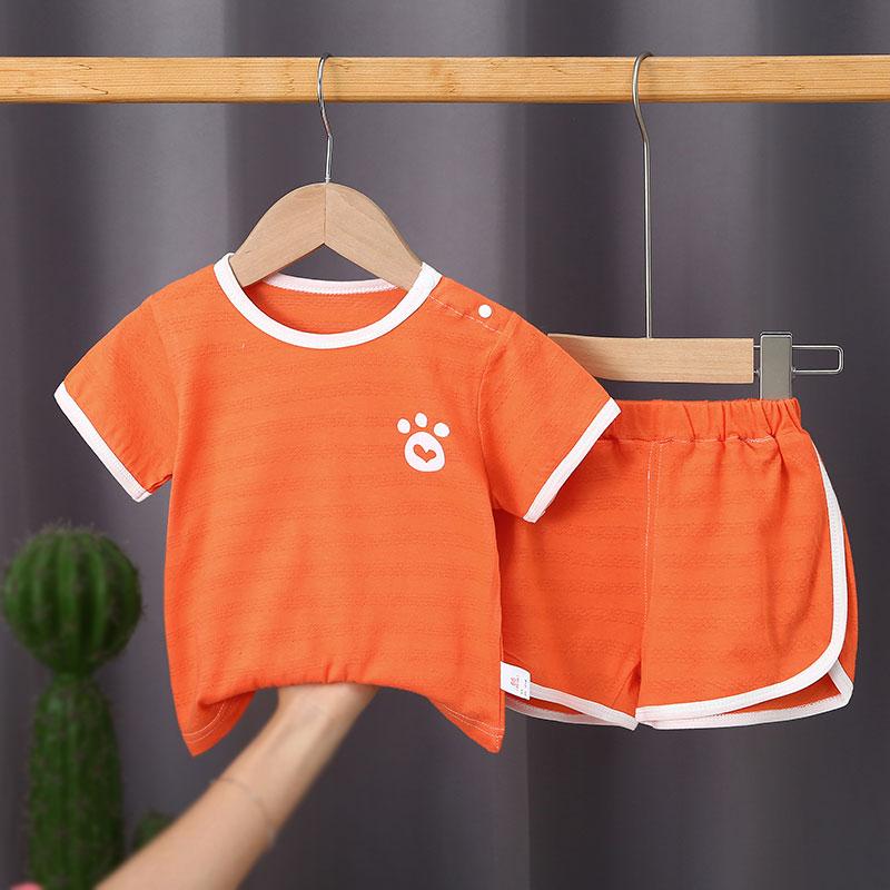 婴儿夏装短袖套装薄款纯棉男小童女儿童短裤两件套宝宝夏天衣服