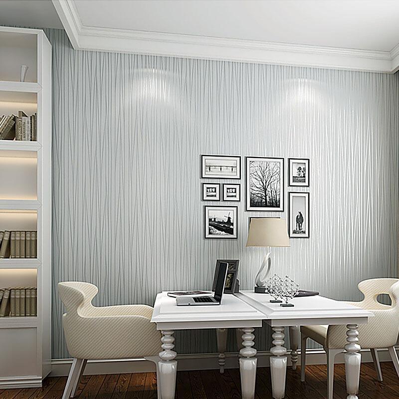 欧式曲线竖条纹壁纸现代简约家用卧室客厅书房宾馆无纺布背景墙纸