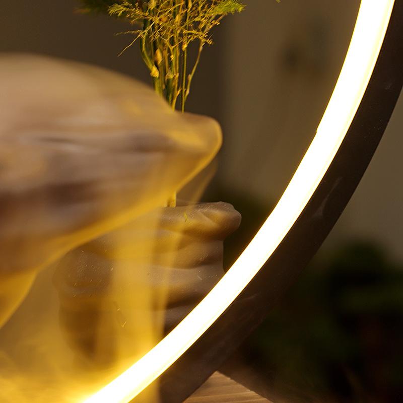 开业送礼倒流香家居客厅风水流水器灯圈加湿中式悬壶开店礼品摆件