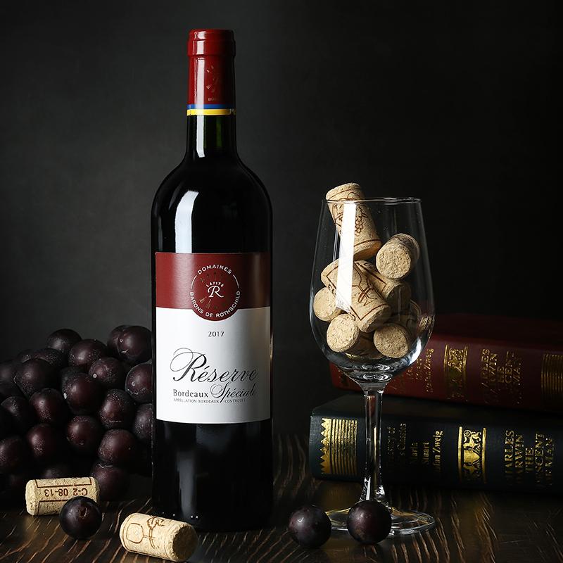 6 瓶整箱装法国进口红酒 拉菲 珍藏波尔多梅洛干红葡萄酒 LAFITE