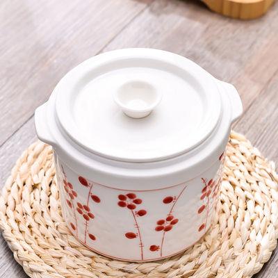 隔水燕窝陶瓷炖盅煲汤炖锅内胆双盖大小号宝宝蒸蛋汤炖罐碗家用