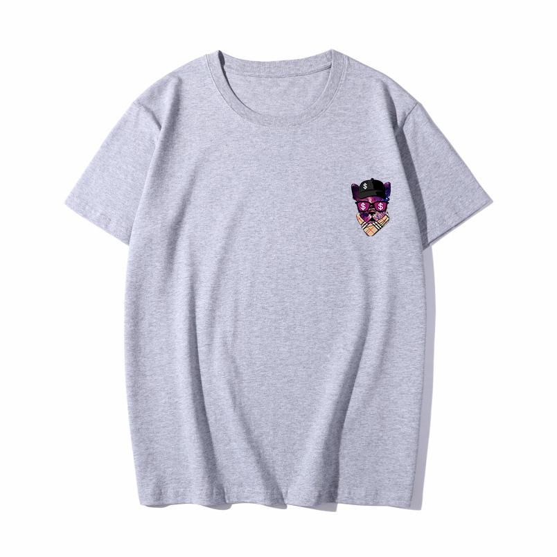 赤焰龙情侣短袖男ins潮牌街头嘻哈圆领宽松大码青少年学生印花t恤
