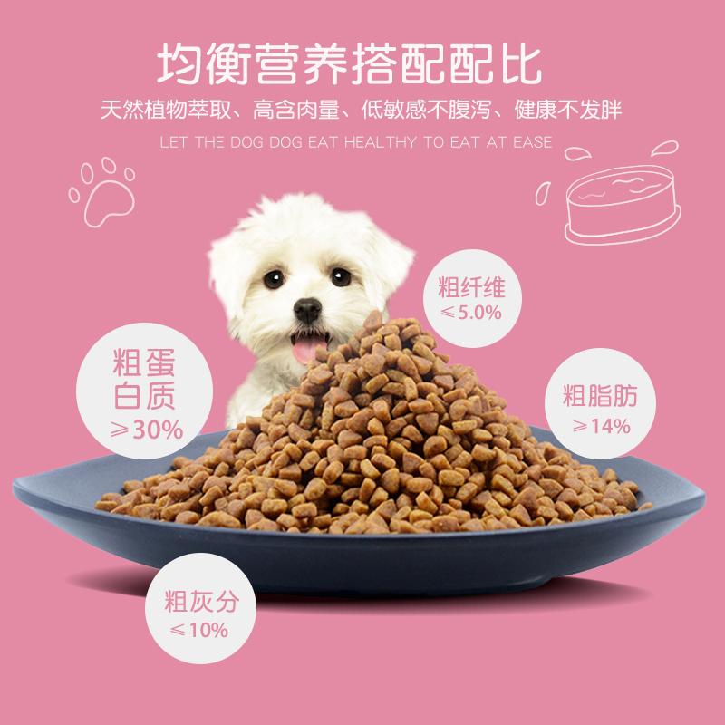 狗粮通用型10kg20斤 鸡肉益生菌大型犬幼犬成犬1.5kg3斤 天然犬粮优惠券