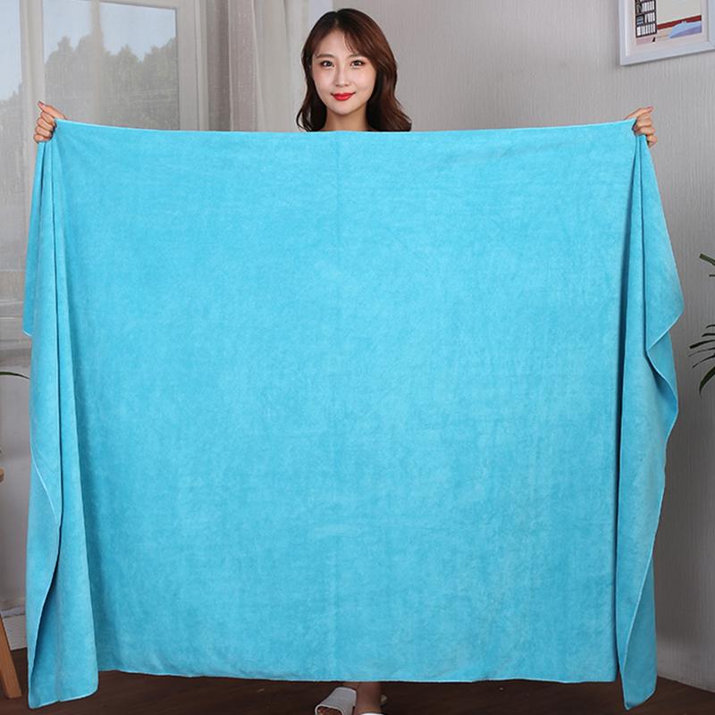 美容院浴巾超大号男可穿铺床大毛巾家用纯棉女长款裹身体吸水速干