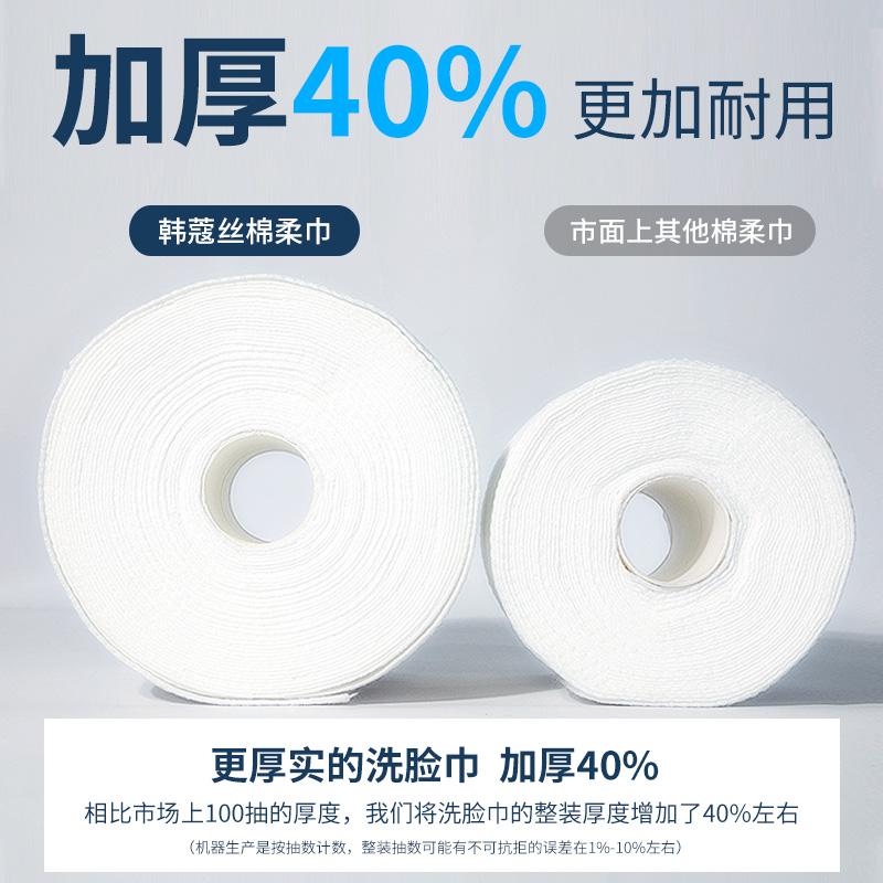【3卷送防水袋】纯棉加厚洗脸巾