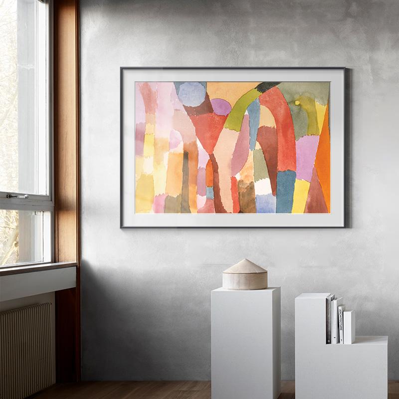 大都會藝術博物館油畫掛畫保羅克利名畫拱形房間的運動客廳裝飾畫