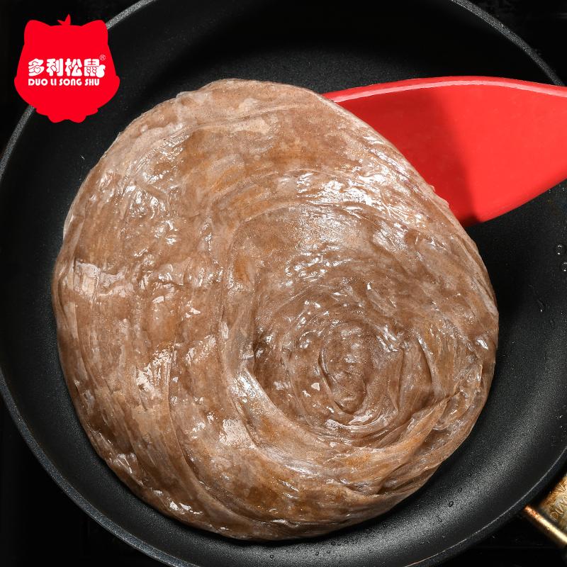 多利松鼠杂粮手抓饼家庭装20片早餐煎饼商用摆摊大面饼半成品厂家