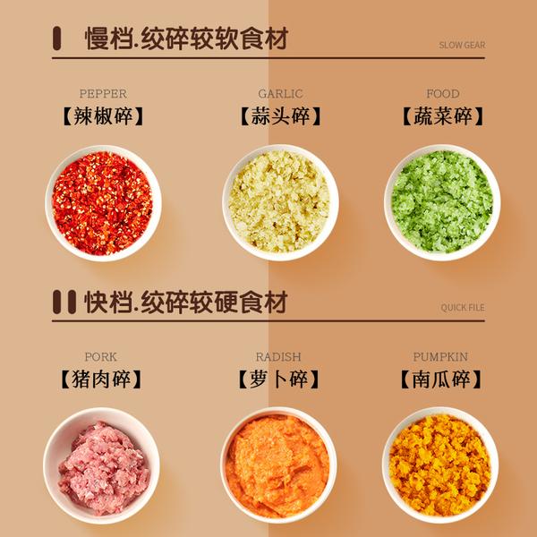 康佳绞肉机家用电动多功能小型打肉馅碎菜搅拌辣椒料理饺子饺馅器