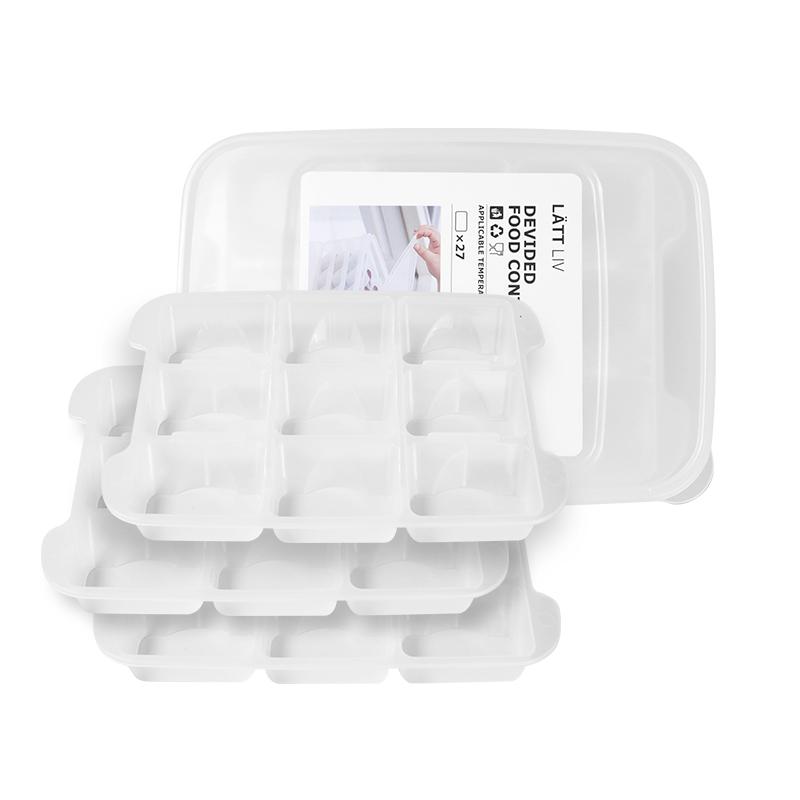 生活无忧收纳盒饺子冻饺子家用速冻水饺馄饨盒冰箱27格3层饺子盒