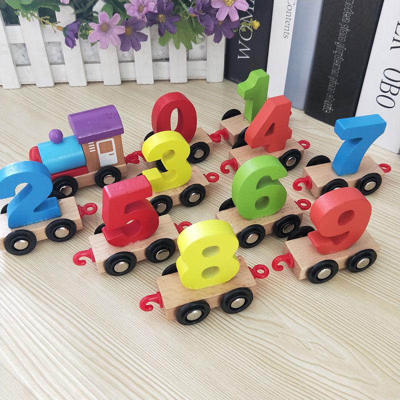 男女孩早教益智木制拼装拖拉智力积木玩具