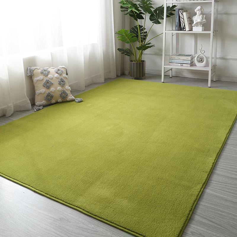 卧室整铺床边灰色耐脏短绒茶几毯