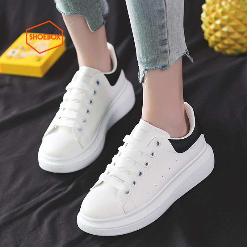 达芙妮shoebox/鞋柜情侣小白鞋
