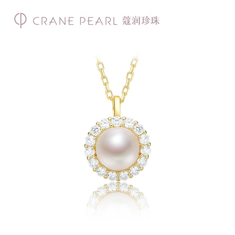 蔻润珍珠项链 映梦S925银淡水珍珠吊链珍珠项链珠宝女