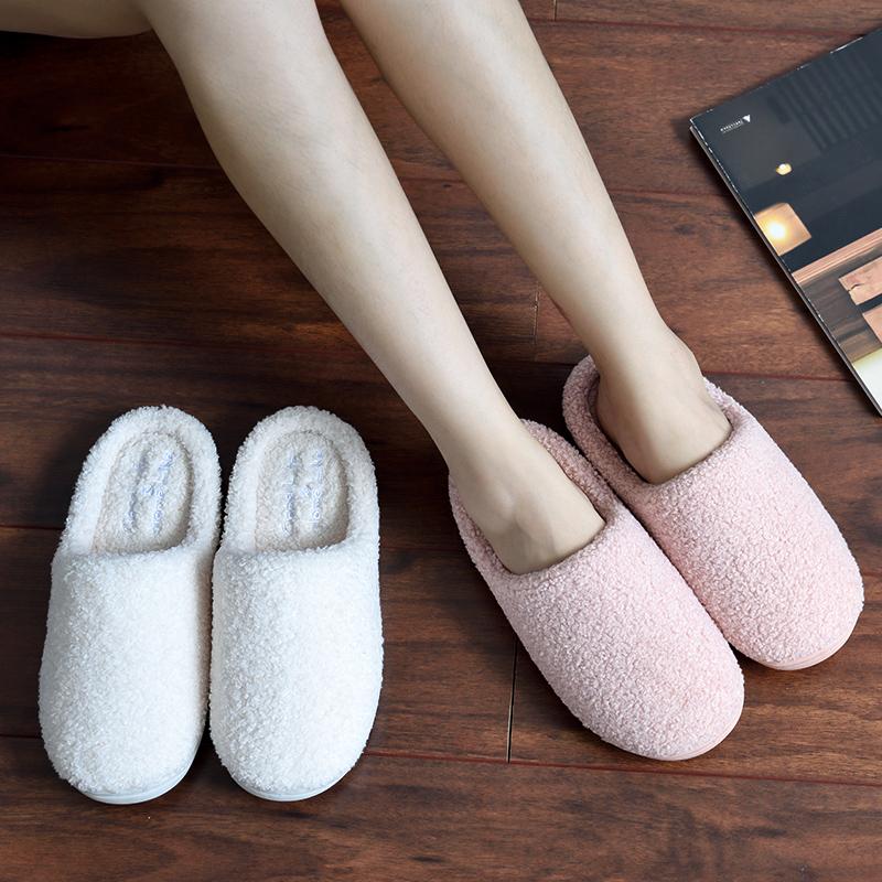 秋冬季棉拖鞋女家居室内防滑情侣软底月子可爱厚底家用毛毛男冬天