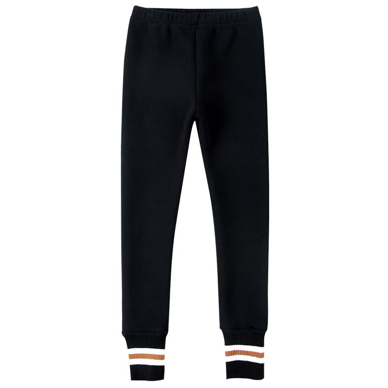女童打底裤加绒加厚冬装 新款儿童裤子女中大童外穿一体保暖裤  2018