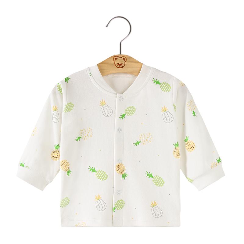 婴儿秋衣薄款男女宝宝长袖纯棉春秋夏季单件打底衫新生儿开衫上衣