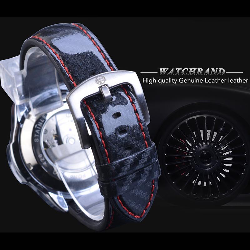 正品男士多功能全自动机械表男学生夜光防水日历概念手表大盘皮带