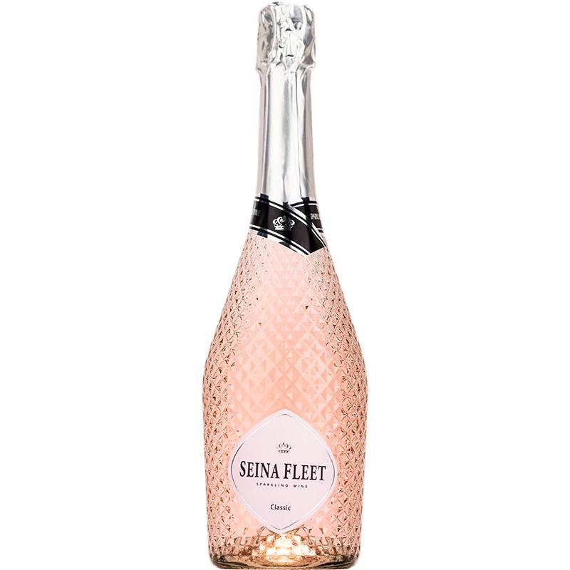 塞纳湾女生甜起泡酒鸡尾气泡酒少女果酒红酒葡萄酒整箱无香槟酒杯