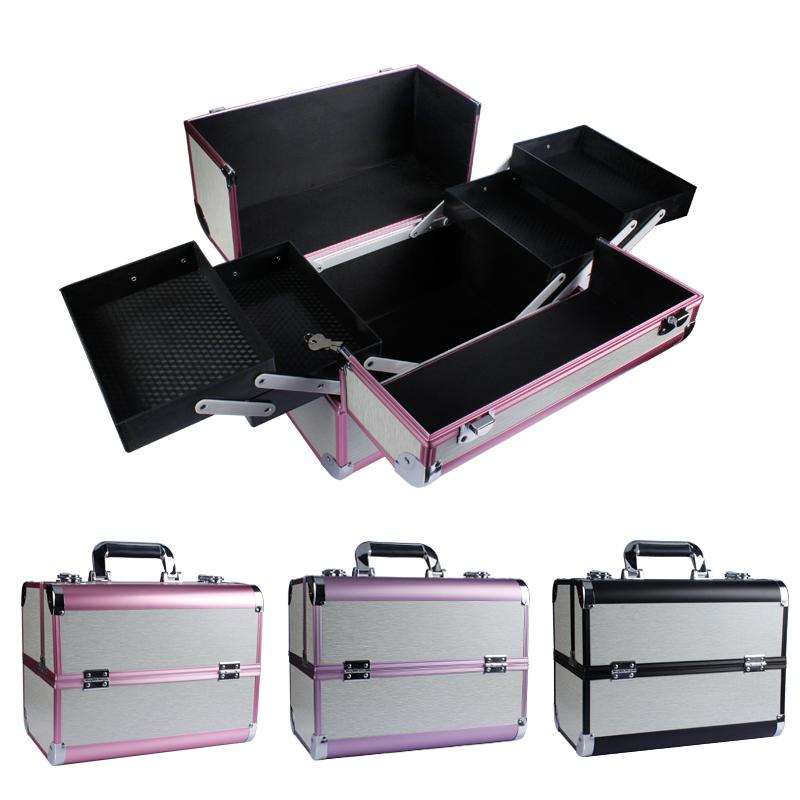 纹绣工具箱 双开多层化妆箱 手提美容美甲箱 纹绣师化妆师工具箱