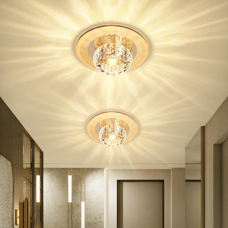 特温特 现代简约水晶过道灯LED走廊灯门厅灯个性玄关灯吸顶灯具