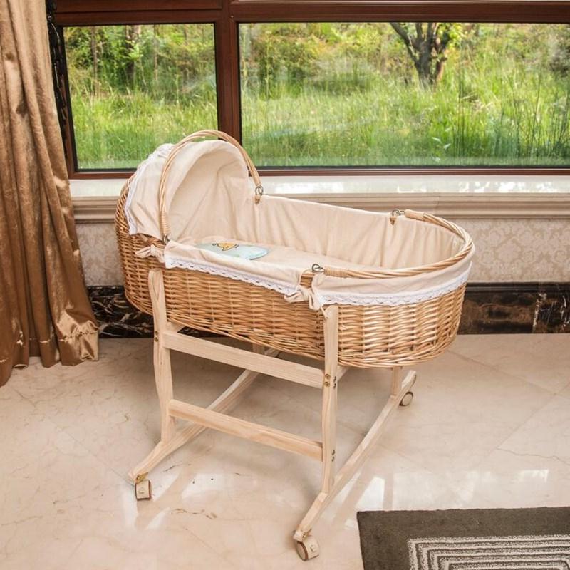 新生儿婴儿篮车载手提篮便携床婴儿睡篮安抚摇篮婴儿用品摇篮凉席
