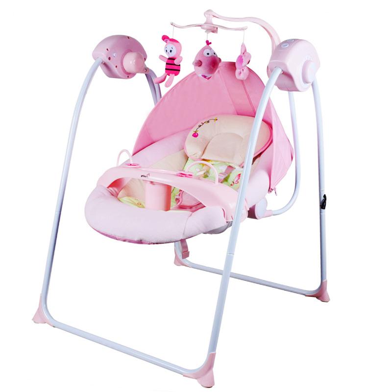 婴儿电动摇摇椅宝宝摇篮躺椅哄娃神器带娃儿童电动摇床抖音摇摇床