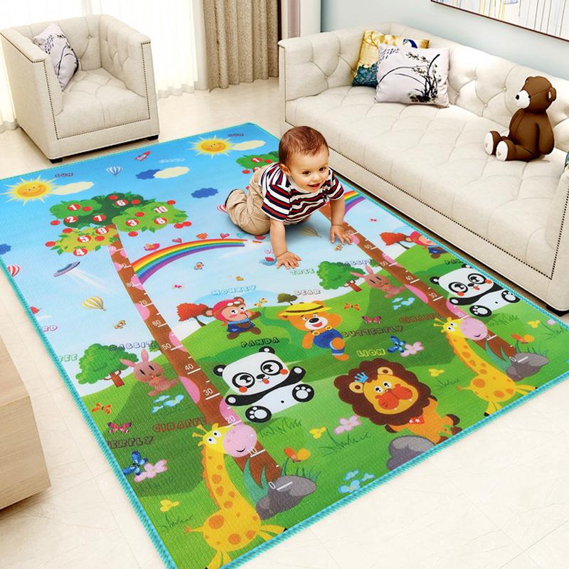 儿童爬行垫加厚婴儿客厅爬爬垫小孩泡沫地垫子家用宝宝可折叠地毯