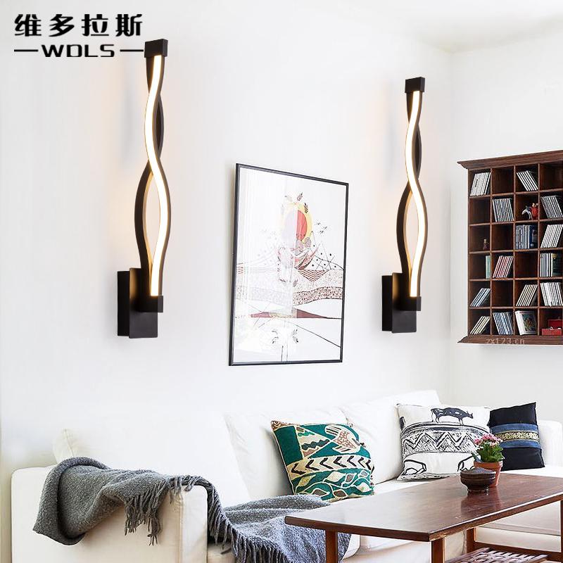 维多拉斯led卧室床头灯创意简约北欧墙灯艺术壁灯过道走廊楼梯灯