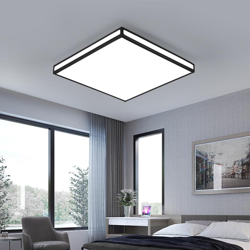 长方形创意家装房间卧室灯具 吸顶灯客厅灯简约现代大气家用 led