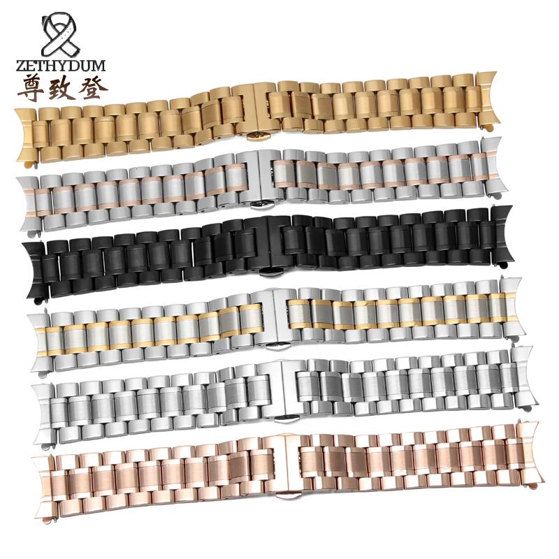 适配阿玛尼不锈钢手表带钢带表链AR5905/5858/5859/5889/5921黑色
