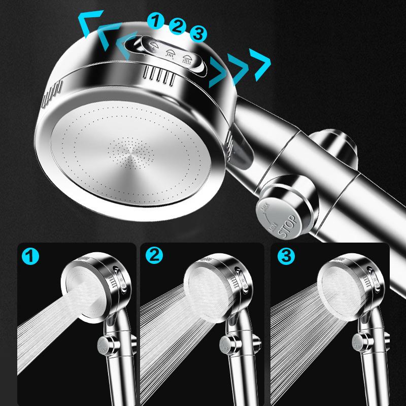 淋浴花洒喷头增压家用花酒淋雨喷头洗澡沐浴高压器淋浴头软管套装【图5】