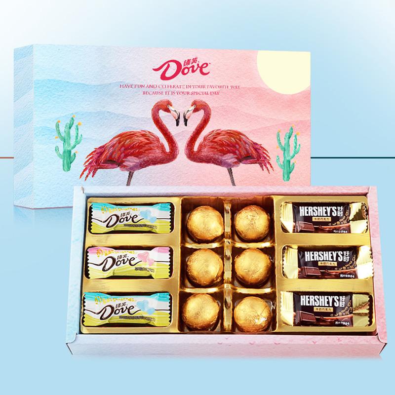 七夕情人节礼物送女友德芙巧克力礼盒装心形生日表白浪漫送女生男