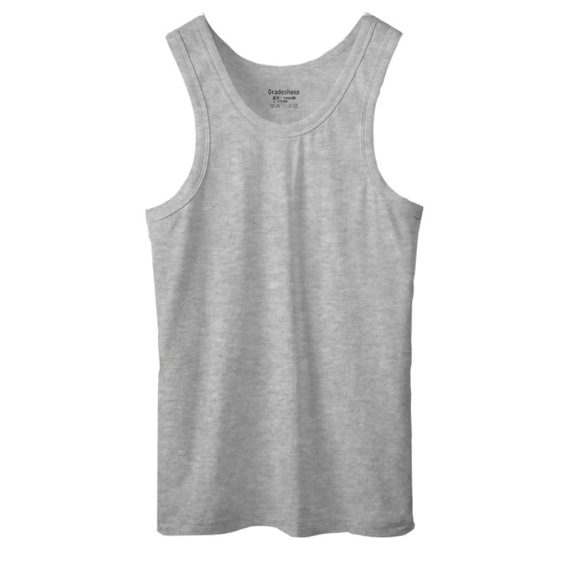 男士背心纯棉青年运动透气修身型男打底速干跨栏汗衫款式无袖夏季