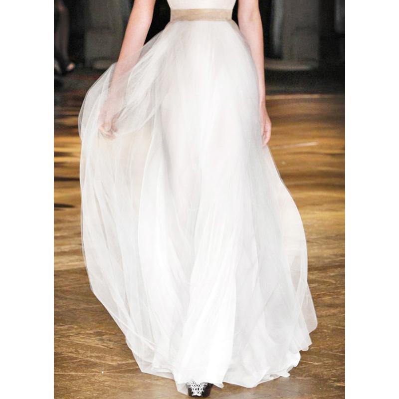 女巫和骑士欧洲站白色网纱走秀连衣裙时尚气质女神范2021夏季洋气