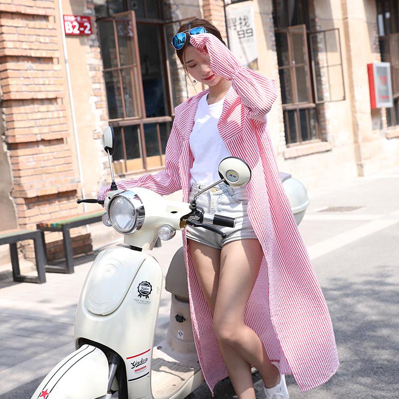 电动车防晒衣女夏季长款防紫外线骑车全身挡风遮阳摩托车长袖披肩